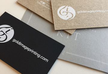 White Ink Business Cards
