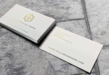 White ink business cards printing los angeles custom white ink foil stamp business cards reheart Gallery